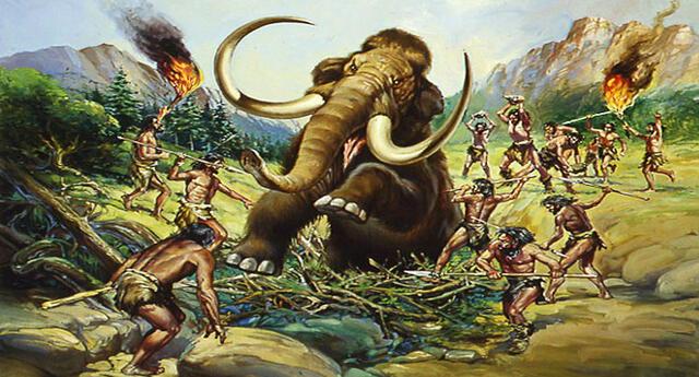 El período Paleolítico empezó con la aparición del hombre.