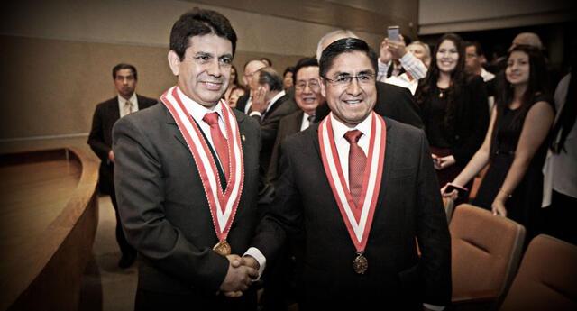 Tomás Gálvez Villegas y César Hinostroza Pariachi.
