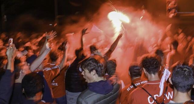 Celebraciones en Múnich, Alemania, tras la final de la Champions League | Foto: TyC Sports