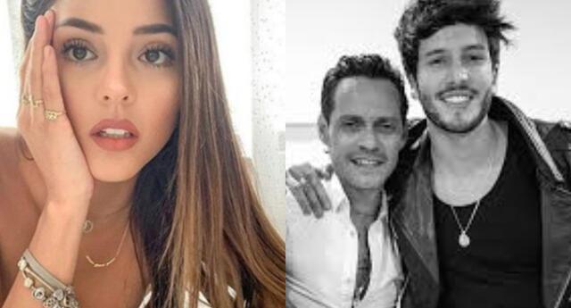 Sebastián Yatra y Marc Anthony al pendiente de las publicaciones de Luciana fuster