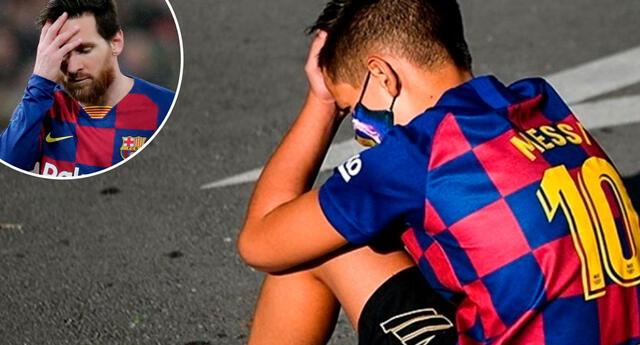 Messi no jugará en Barcelona y los niños lo sufren.