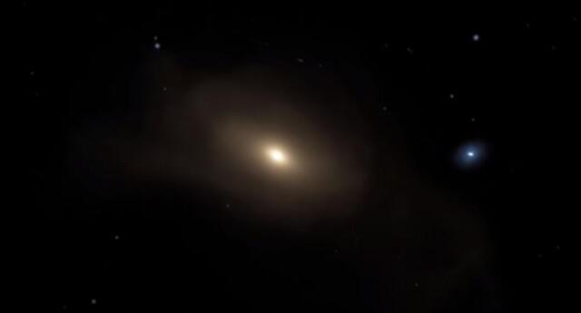 Experimentados científicos capturaron el preciso momento en que la galaxia Andrómeda choca con la Vía Láctea.