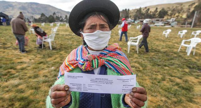 Más de 1.1 millones de hogares de pueblos andinos, amazónicos y afroperuanos han accedido a un bono durante la emergencia sanitaria.