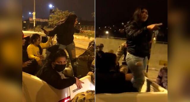 Pese a saber que estaba violando las normas del Gobierno, la joven no tuvo reparos en arremeter contra los miembros del ejército.
