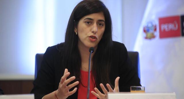 María Antonieta Alva, titular del Ministerio de Economía y Finanzas.