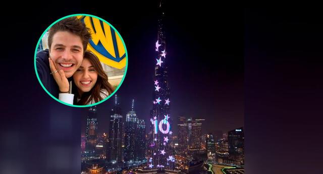 Pareja ilumina la torre más alta de Dubai para revelar el sexo de su bebé