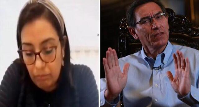 Karem Roca aceptó que grabó a Martín Vizcarra.
