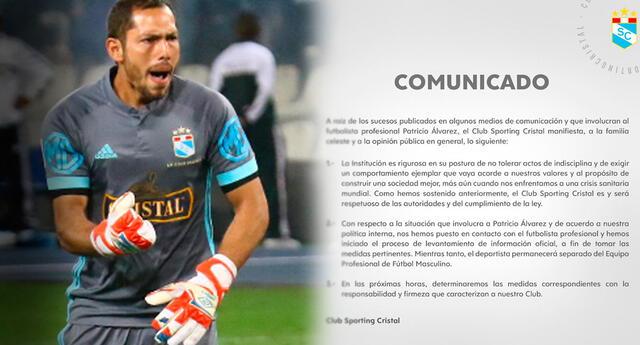 Patricio Álvarez protagoniza comportamiento reprochable para Cristal.