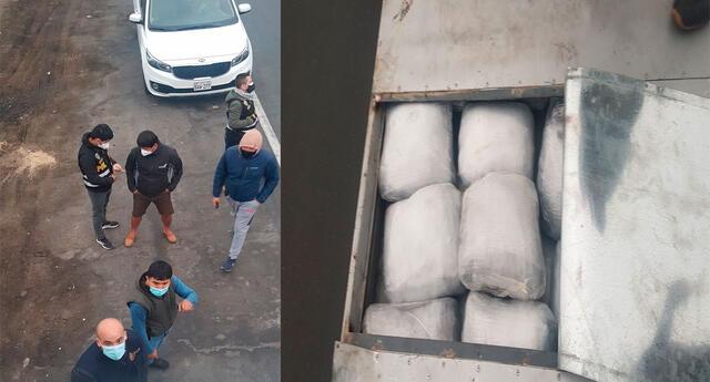 El detenido captado por el Dron de la PNP