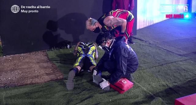 El chico reality Jota Benz cayó mientras competía junto a su hermano Gino Assereto, y tuvo que ser atendido de emergencia por los médicos.