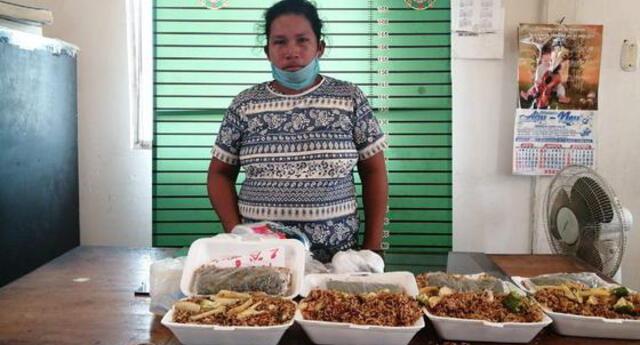 Mujer llevaba droga en comida