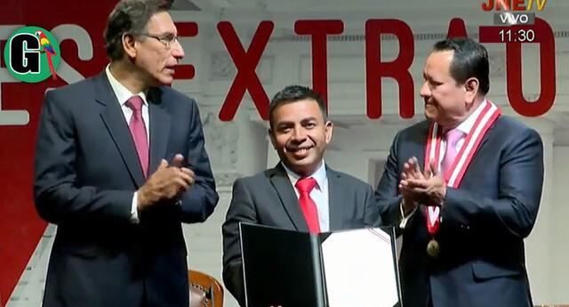 En su intervención, el congresista César Gonzales también aseguró que la pandemia ha bajado por la moción de vacancia que presentaron.