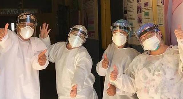 Hospital Referencial COVID-19 utilizó sus redes sociales sociales para anunciar la buena noticia.