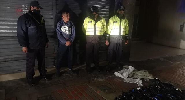 Serenazgo frustra robos en tiendas de calzado en Cercado de Lima