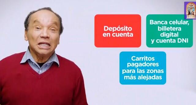 Melcochita promociona el nuevo bono familiar universal.