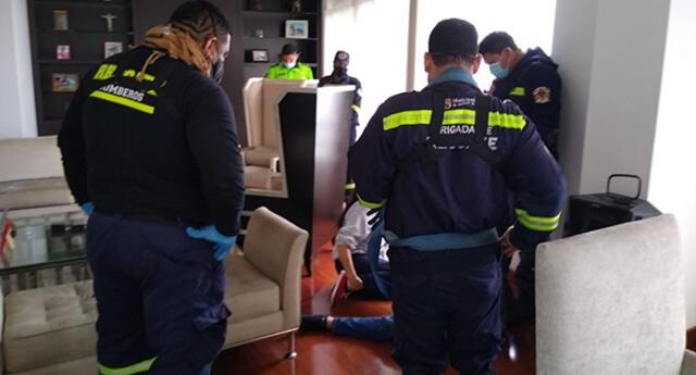 Rescatistas detiene homicidio de un hombre en surco