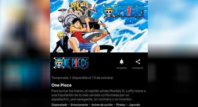 One Piece se estrenó hoy en Netflix