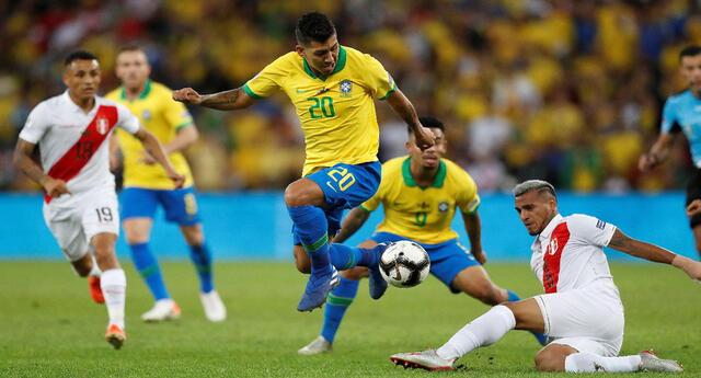 Perú y Brasil se enfrentan por las Eliminatorias Qatar 2022 | Foto: EFE
