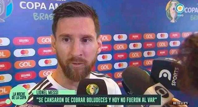 En redes sociales se recordó a Messi cuando criticó arbitraje de Copa América 2019