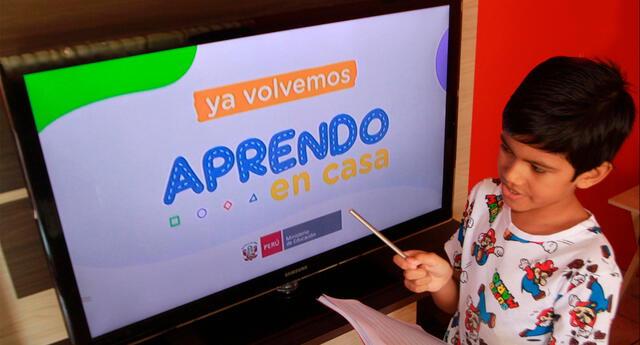 Aprendo en casa: programación y horario de clases virtuales.