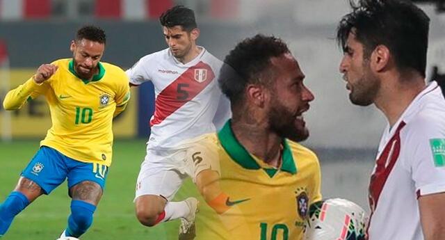 Neymar y Zambrano tuvieron un duelo aparte.