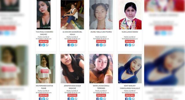 Familias no tienen que esperar 24 horas para denunciar desapariciones. Todos los casos están en Desaparecidos en Perú.