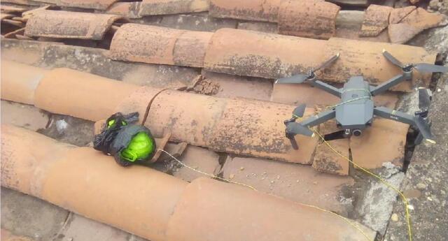 Fiscalía de Cusco investiga el hallazgo de dos celulares amarrados a un drone sobre el techo del penal  Q'enqoro