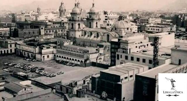 Vista aérea donde se construirá el edificio del Banco Central de Reserva ubicado en la misma manzana que la Biblioteca Nacional.
