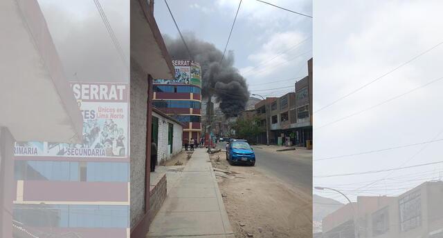 Incendio en Comas.