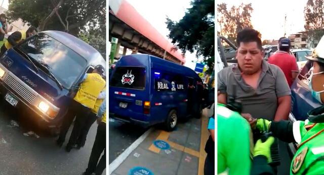Sujeto casi atropella a inspectores del municipio y la Autoridad de Transporte Urbano para Lima y Callao (ATU).