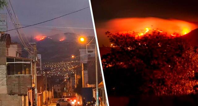 Incendio de importante magnitud se viene reportando por medio de las rede sociales donde aseguran se da entre las localidades de Ocros y Chiara.
