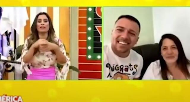 Yiddá Eslava y Julián Zucchi presentan a su segundo hijo en vivo