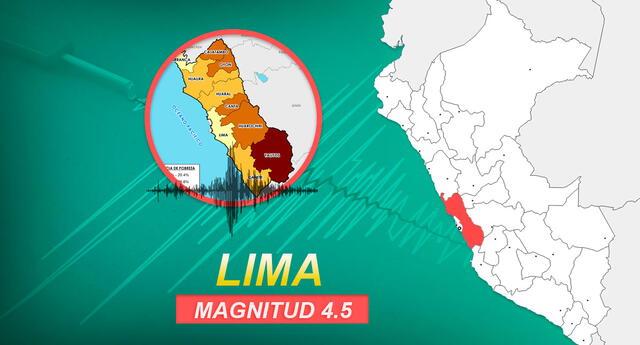 Sismo de magnitud 4.5 se sintió la mañana de este lunes, según información de IGP