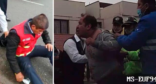 Taxista informal fue trasladado a la comisaría de Surco y será denunciado por atropellar y dejar herido al agente de la ATU.