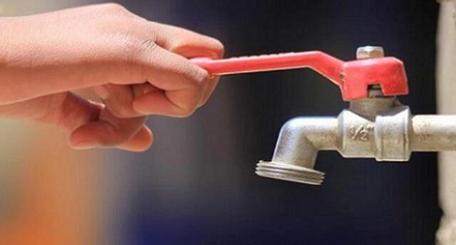 Corte de agua.