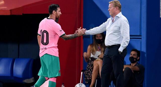 Koeman no ha perdido la confianza en  Messi.