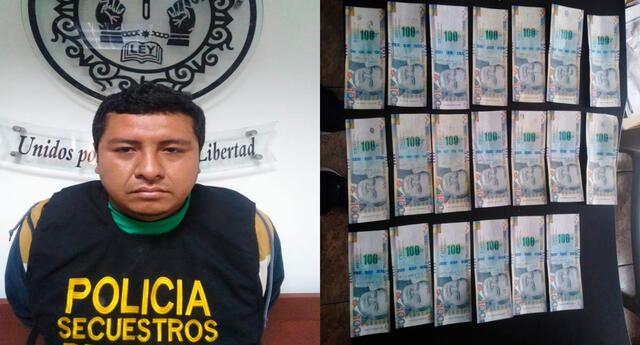 El detenido y el dinero incautado