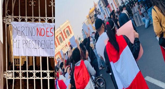 Trujillo sale a las calles en contra de gobierno de Manuel Merino.