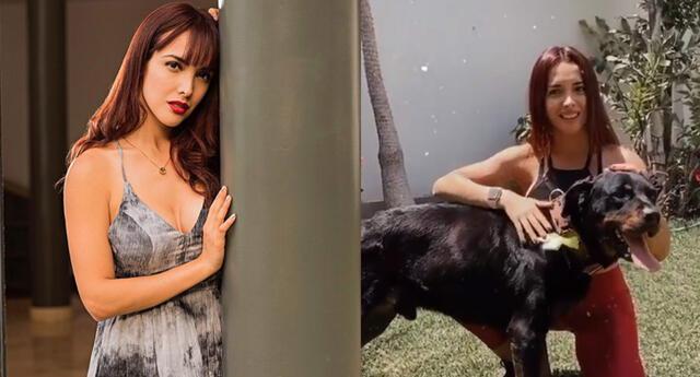 Rosángela Espinoza tras alejarse de 'Bianca' adopta un perrito