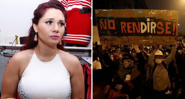 Génesis Tapia habló en Instagram sobre la crisis política que ha vivido el país en las última seamanas tras el fallecimiento de Inti y Bryan por represión policial.