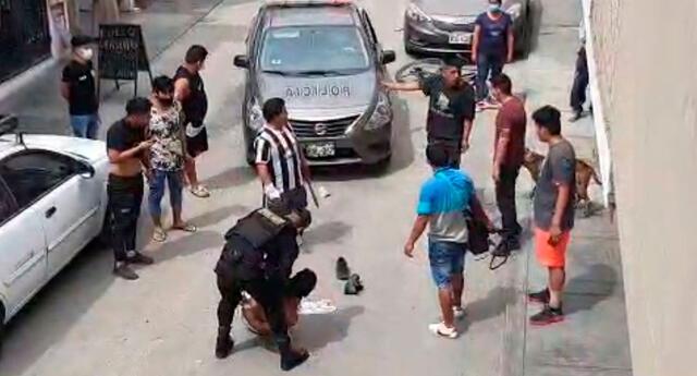 Vecinos casi linchan a dos delincuentes