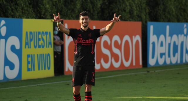 Amoroso feliz por sus goles marcados en goleada del Melgar 6-0 a Llacuabamba.