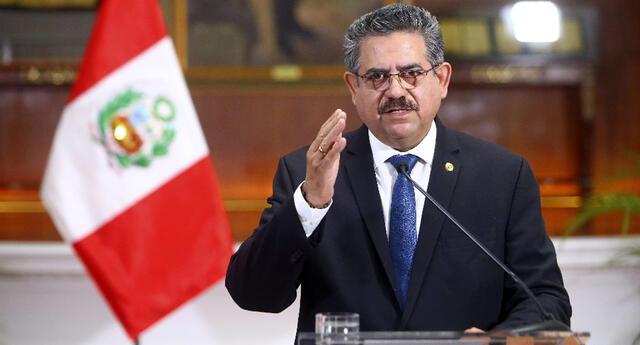 Manuel Merino pide retiro de plancha presidencial del Partido Morado
