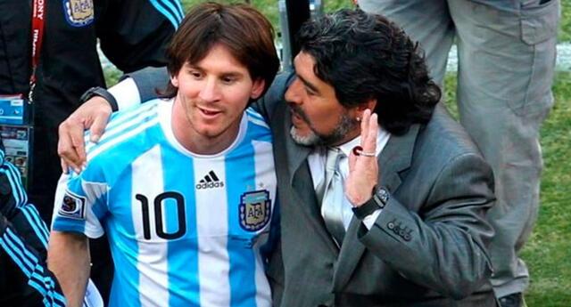 Messi triste por muerte de Maradona.