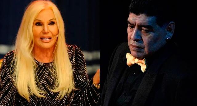 Susana Giménez lamenta la muerte de Diego Maradona.