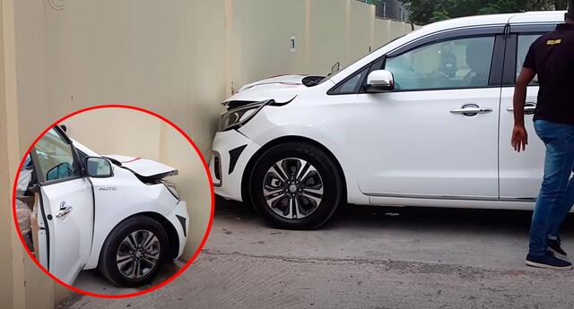 El hombre no pudo controlar su auto y terminó chocando.