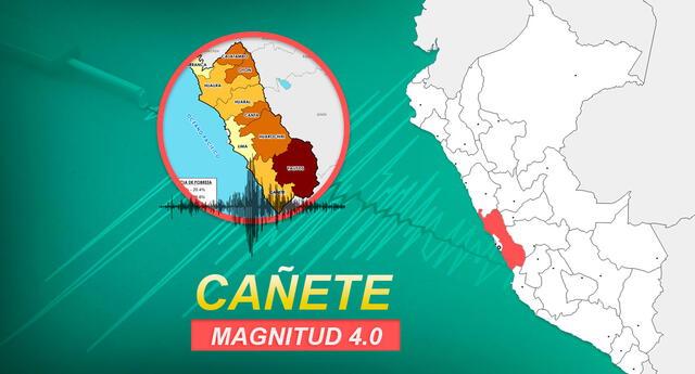 Sismo en Cañete ocurrió a las 04:19 de la tarde de este jueves 26 de noviembre.