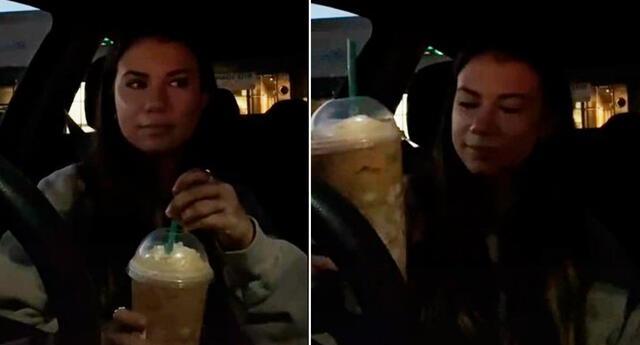 La joven se percató que no sentía el sabor de la bebida.