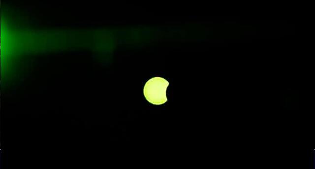 Eclipse solar parcial en Perú se pudo presenciar en algunos lugares.
