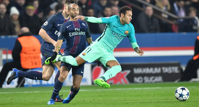 Neymar jugó en Barcelona y hoy está en la vereda del frente con PSG para enfrentarlos los octavos de la Liga de Campeones.